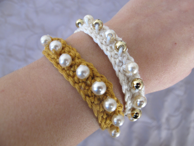 tuto bracelet crochet avec des perles le blog de p tronille. Black Bedroom Furniture Sets. Home Design Ideas