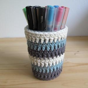 Pétronille tuto pot à crayon au crochet