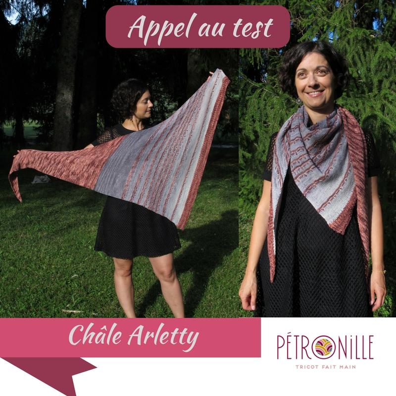 Pétronille patron châle Arletty test